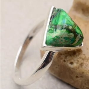 Jewelry - Sterling Silver & Green Turquoise Ring